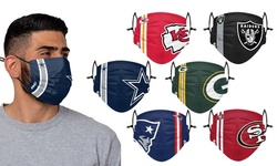 NFL Washable and Reusable Face Mask with On-Field Team Logo