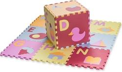 Kid's Multicolored Alphabet Plus Shapes Puzzle Play Mat