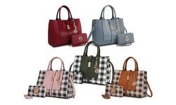MKF Collection Satchel Handbag with Matching Wallet