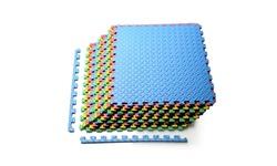 Costway 12PCS Kids Puzzle Exercise Play Mat w/Foam Tiles (25''x25'')
