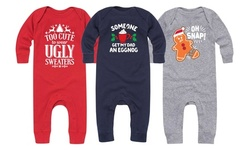 Instant Message: Funny Infant Christmas Bodysuits