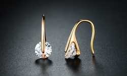 Handmade and Unique Gold Plating Drop Earrings with Swarovski Crystal