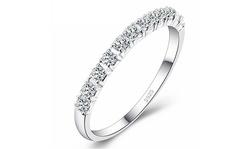 Fashion Design Wedding Rings Women 925 Sterling Silver Simulated Diamond Ring