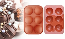 6 Holes Chocolate Molds Semi Sphere Silicone Mold Baking Mold