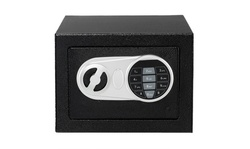 17E Home Use Upgraded Electronic Password Steel Plate Safe Box Black