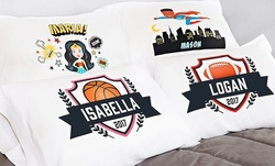 1, 2, 3, 5, or 10 Personalized Superhero or Sports Pillowcases from Qualtry (Up to 88% Off)