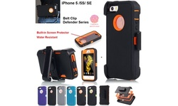 Heavy Duty Shockproof Case (Belt Clip fits) New Case Cover for  iPhone 5 5S/SE