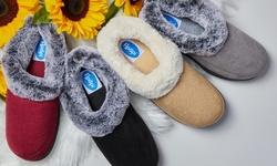 Floopi Women's Two-Tone Fur-Collar Fuzzy Slippers