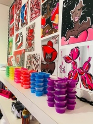 Private Paint Jam Session for 5, 10, or 20 People at Vee Faye (Up to 32% Off)