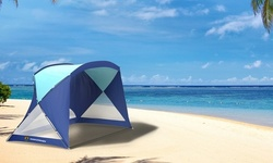 Beach Tent/Sun Shelter for Shade with UV Protection, Water and Wind Resistant
