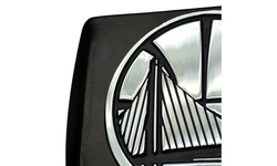 Fanmats NCAA Black Hitch Cover with Chrome Emblem