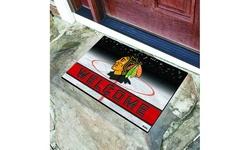 """Fanmats NHL 18"""" x 30"""" Heavy Duty Weatherproof Rubber Door Mat"""