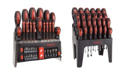Screwdriver Set with Magnetic Tips, Wall Mount, and Stand by Stalwart