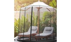 Patio Umbrella Mosquito Net for Tables