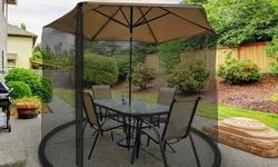 Patio Umbrella Cover Bug Net Screen by Pure Garden