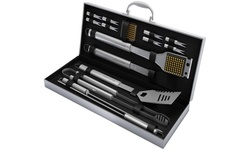Home-Complete BBQ Grill Tool Set with Aluminum Case