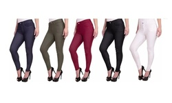 Women's 5-Pack Jeggings with 5 Functional Pockets. Plus Sizes Available.