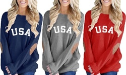 Leo Rosi Women's USA Lightweight Top. Plus Sizes Available.