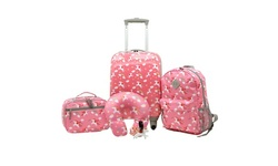 5 Pcs Kids Luggage set with 4-Wheel Spinner System