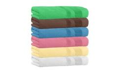 "Extra Soft 100% Cotton 5-Piece Bath Towels 54"" x 27"""