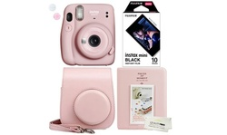Fujifilm Instax Mini 11 Blush Gold Camera, Album, Case and 10 Films