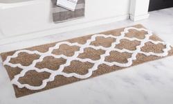 "Oversized Lavish Home 100% Cotton Trellis Bathroom Mat (24"" by 60"")"
