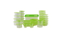 76 Piece BPA Free Large Food Storage Containers With Airtight Lids