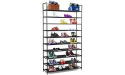 10-Tier Shoe Rack Storage Organizer, Stackable Space Saving Shoe Shelf