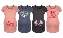 Instant Message: Made With love Valentine's Day Maternity Tees