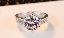 Leo Rosi Luxury Gem Crystal Ring in Sterling Silver