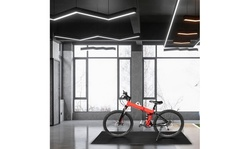 PVC Sports Equipment Mat for Under Treadmill, Stationary Bike, Elliptical Black