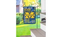 Team Sports America NCAA Embossed Suede Garden Flags
