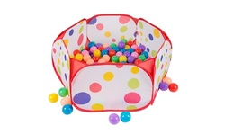 Kids Pop-up Six-sided Ball Pit Tent with 200 Colorful and Soft Crush-proof Balls