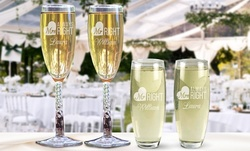 Engraved Wedding Toast Flutes from GiftsForYouNow.com (Up to 51% Off)
