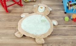 Bear Baby Play Mat- Soft Infant/Toddler Stuffed Animal Floor Cushion Friend