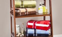 Lavish Home 100% Cotton Oakville Velour 6 Piece Towel Set