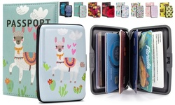 Miami CarryOn RFID Wallet, Passport Cover Set - Prevent Identity Theft