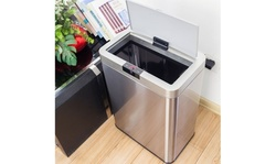 50L Inductive Touchless Full-automatic Fingerprint-resistant Garbage Trash Can