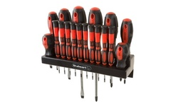 18 Piece Screwdriver Set with Wall Mount and Magnetic Tips
