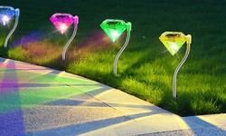 SolarEK Color Changing LED Diamond Solar Stake Lights (4- or 8-Pack)