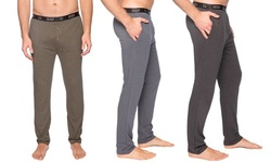 Men's Double Layer Thermal Fitted Lounge Pant with Pockets