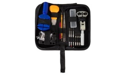 144 Piece Watch Repair Kit with Storage Carrying Case