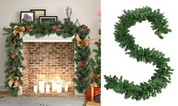 9ft Christmas Garland Pine Artificial Fireplace Wreath Ornaments