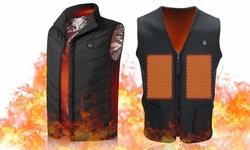 Winter Lightweight Heated Vest Outdoor Warm USB Charging Heating Coat Jacket