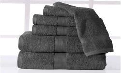 Casa Platino Plush Luxury Low Twist Cotton Bath Towel Set (6-Piece)