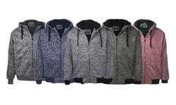 Men's Marled Zipper Fleece Lined Hoody