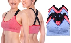 6-Pack Seamless Wire-free Cross Back Bralette