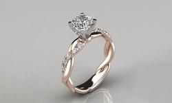 Leo Rosi Exquisite Created Diamond Rose Gold Ring