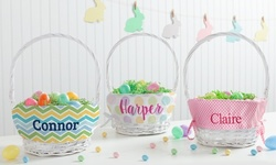 One Personalized Wicker Easter Basket from Personalized Planet (49% Off)
