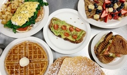 American Food and Drink at Pushkart Cafe; Carryout and Dine-In (Up to 20% Off). Two Options Available.